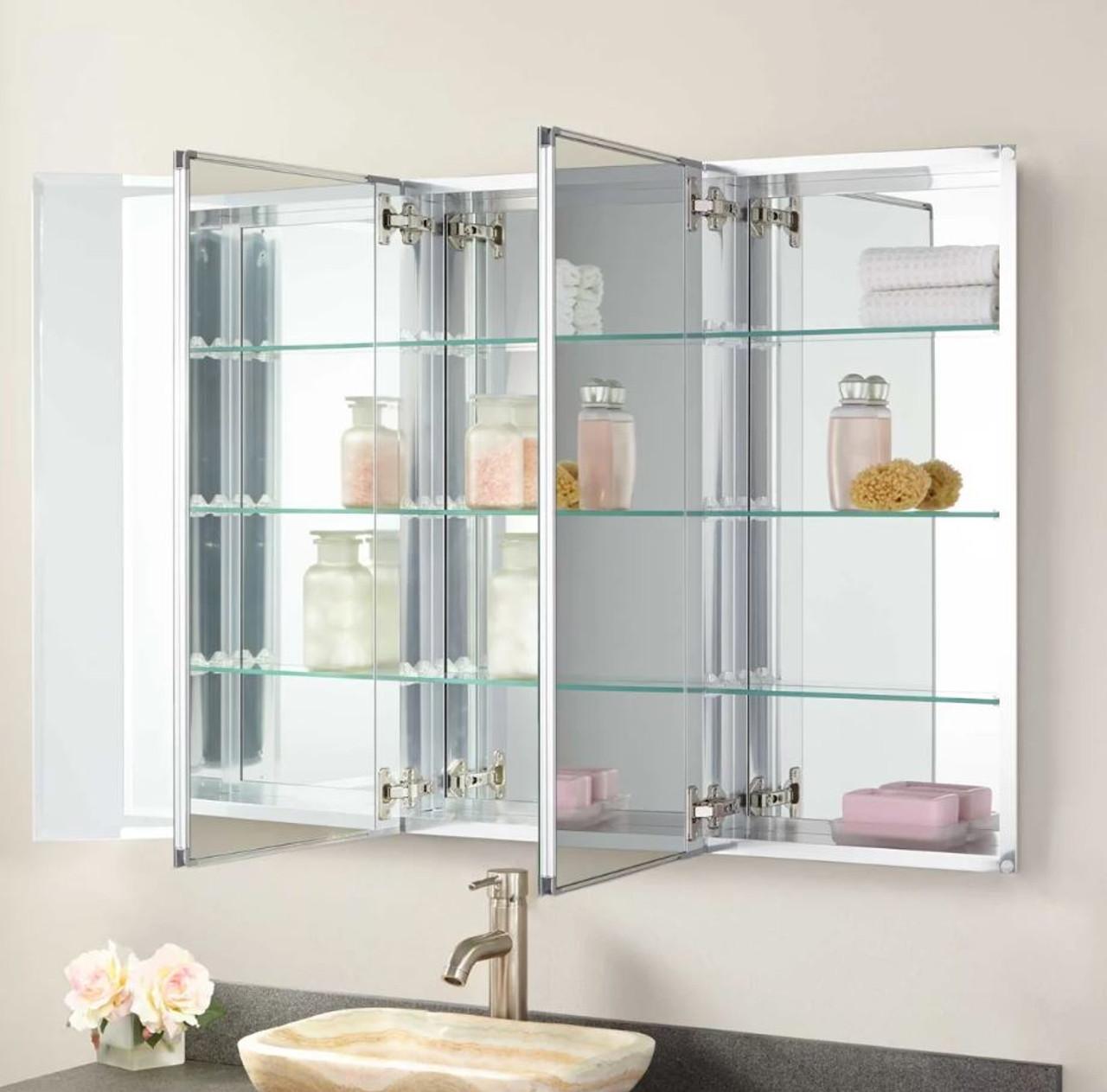 Signature Hardware Furview 31 X 48 Three Door Medicine Cabinet With Left Open Door Swing Royal Bath Place