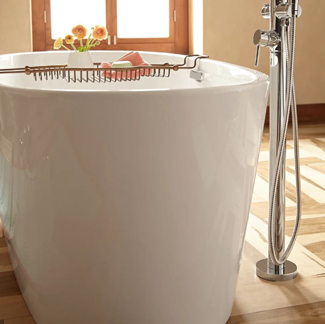 American Standard Coastal Serin 68 3 4 Acrylic Free Standing Soaking Bathtub With Center Drain Royal Bath Place