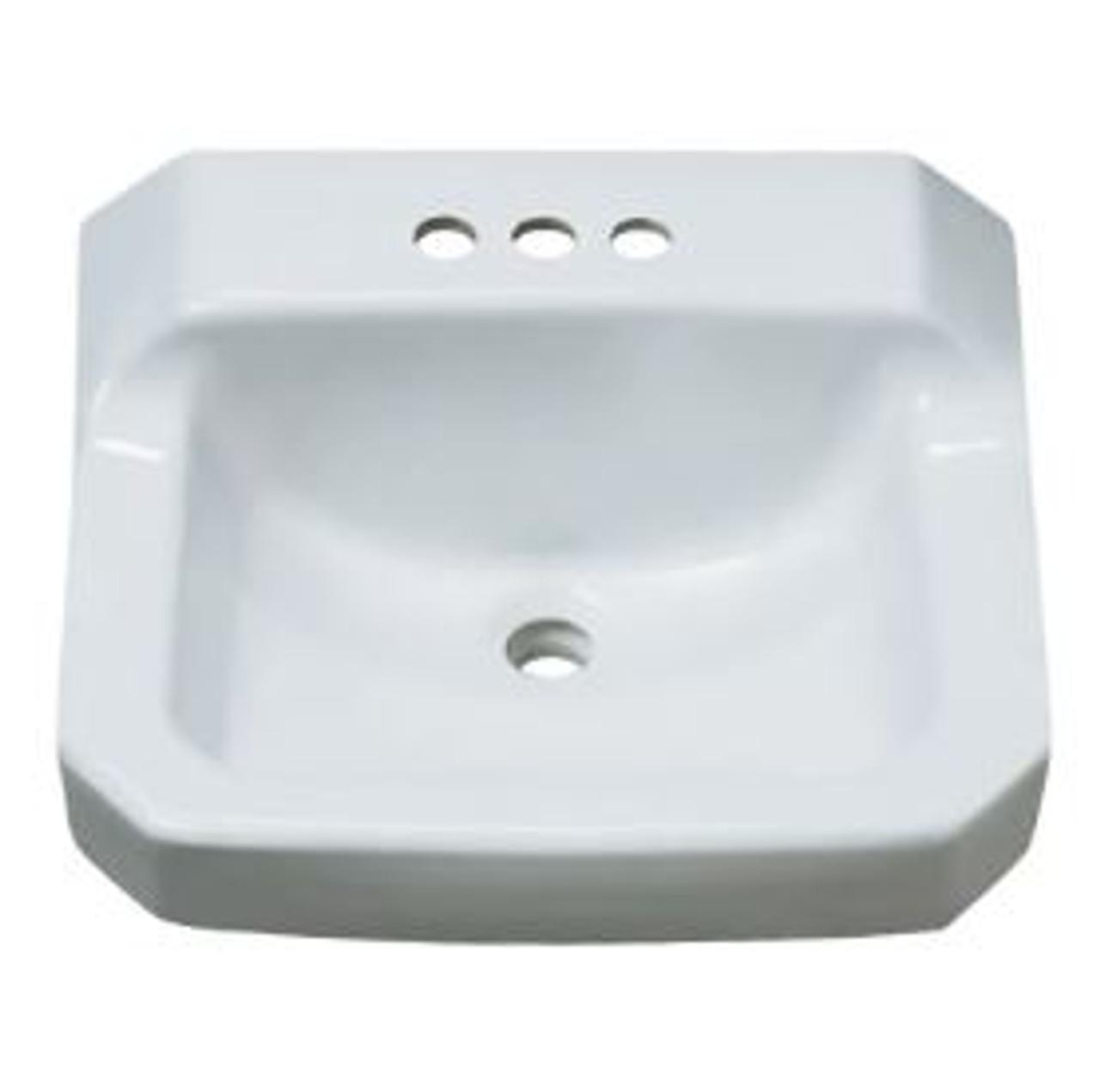 Proflo 19 5 8 Wall Mounted Rectangular Bathroom Sink 3 Holes Drilled Royal Bath Place