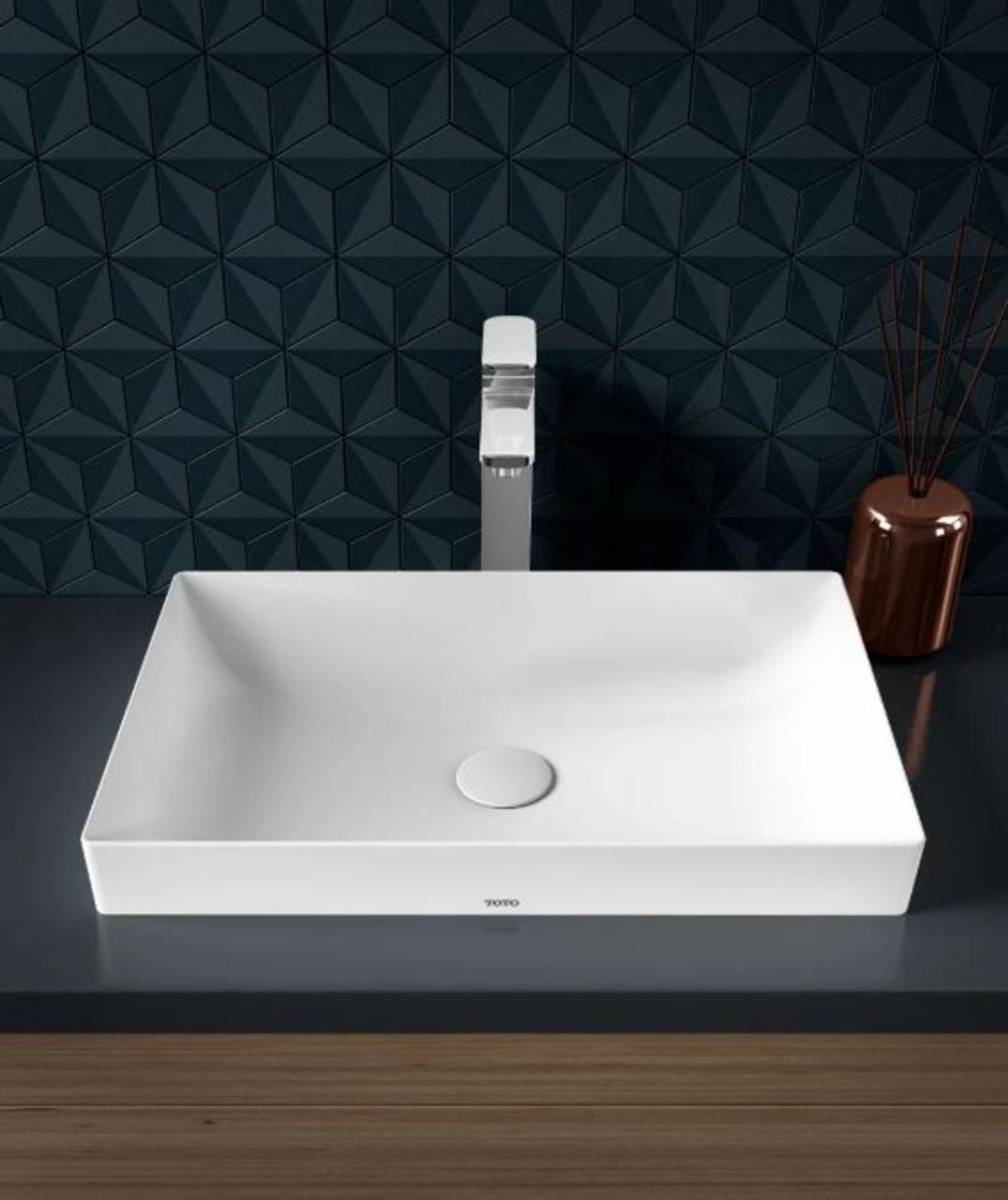 Toto Kiwami Renesse 23 5 8 Rectangular Ceramic Vessel Bathroom Sink With Overflow Royal Bath Place