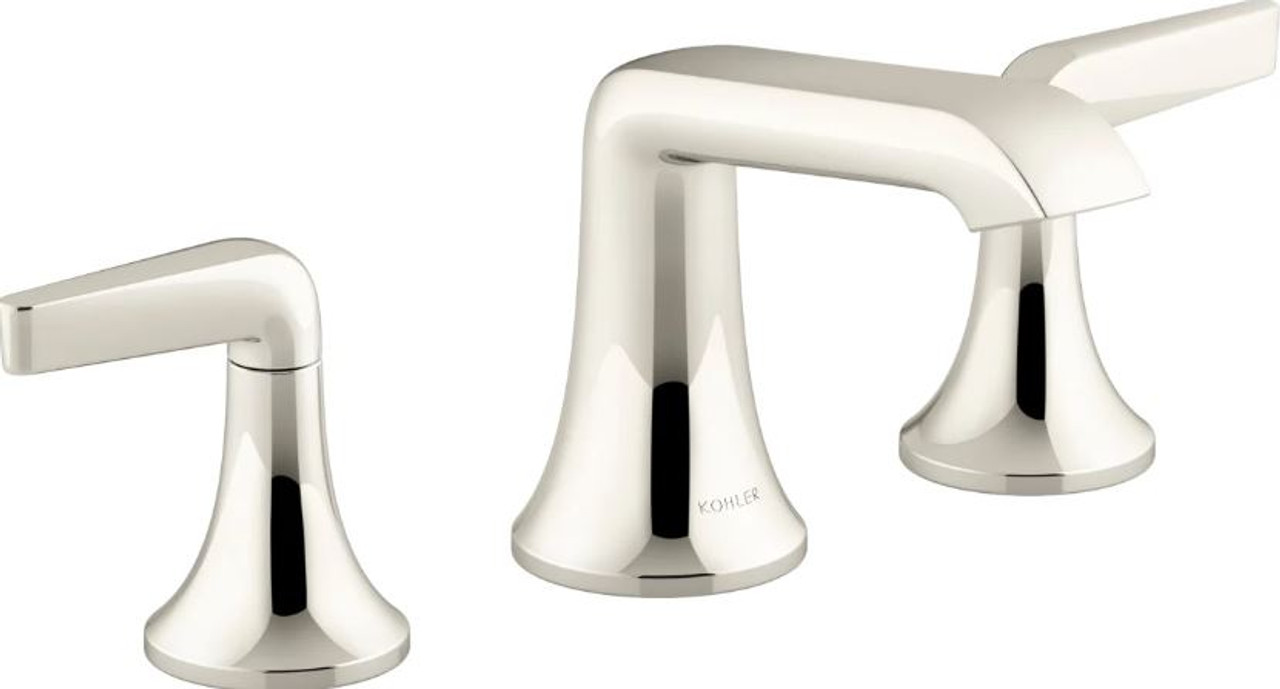 Kohler Tempered 1 2 Gpm Widespread Bathroom Faucet With Ultraglide And Pop Up Drain Assembly Royal Bath Place