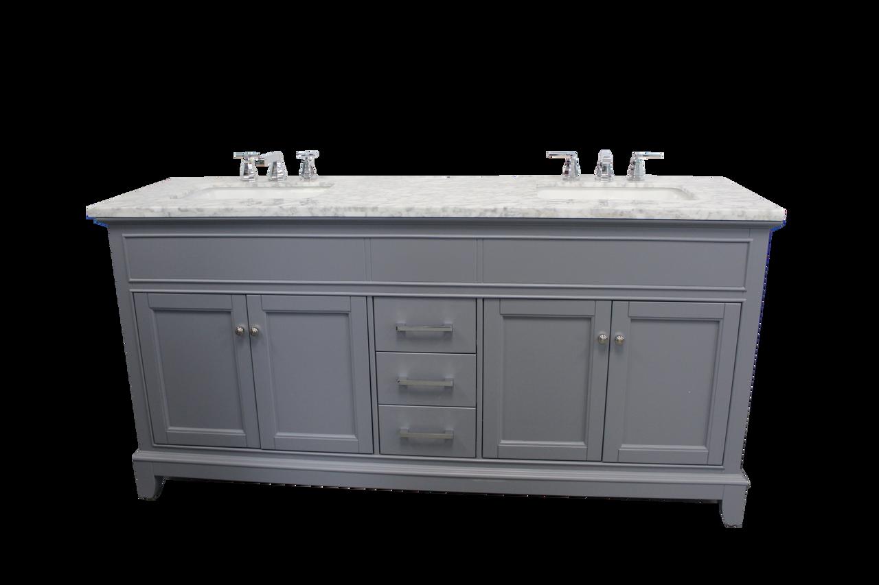 Naples 62 Gray Double Sink Bathroom Vanity Royal Bath Place