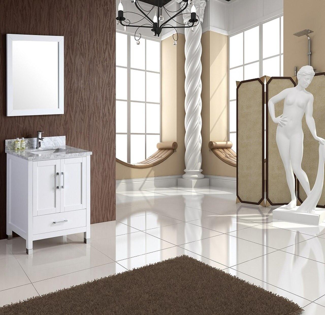 Palmera 28 Inch White Bathroom Vanity