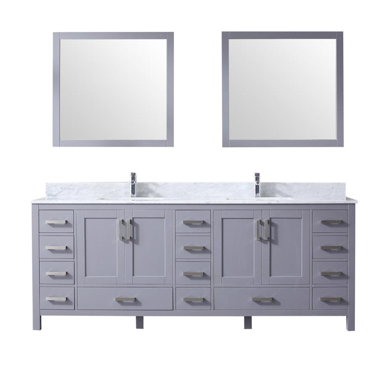 Key West 84 Double Bath Vanity In Grey W Quartz Top White Ceramic Sinks Royal Bath Place