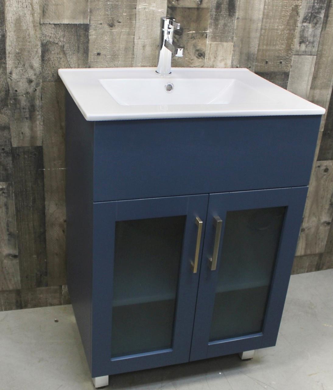 Jane 30 Inch Bathroom Vanity In Navy Blue