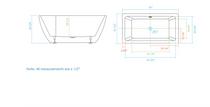 Royal Fiona Freestanding Bathtub 67 inch -White