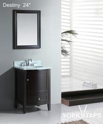 "Destiny 24"" Espresso Bathroom Vanity"