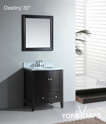 "Destiny 30"" Espresso Bathroom Vanity"