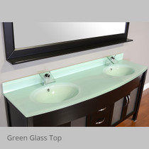 "Juno 72"" Espresso Double Sink Bathroom Vanity"