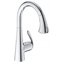 Grohe 32298001 LadyLux3 Cafe Locking Dual-Spray Kitchen Faucet With Pull-Down Spout In Chrome