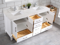 Royal Palmera Collection 60 inch White Double Sink Bathroom Vanity
