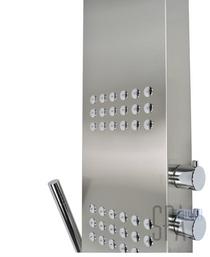 Oakville Shower Panel Brushed Nickel