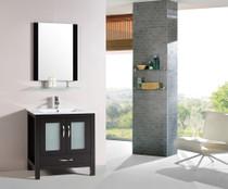 """Wasaga 30"""" Espresso Bathroom Vanity"""