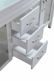 Juno 72 Inch  White Double Sink Bathroom Vanity  *Limited Time Price