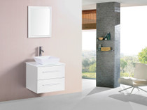 "Weston 24"" White Wall Mount Bathroom Vanity"