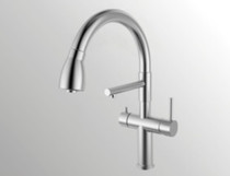 Bettle Filter Water Pullout Kitchen Faucet Stainless Steel