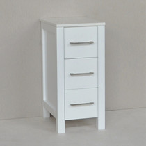 "Kennedy 13"" White Side Linen Cabinet"