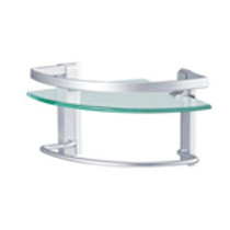 Elegant Glass Corner Shelf
