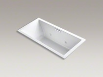 "Kohler Underscore® 60"" x 30"" whirlpool bath with three-sided integral tile flange and left-hand drain  K-1167-LH2-0"