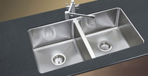 "Castle Bay Lincoln Undermount Kitchen Sink 50/50 31""x18"""