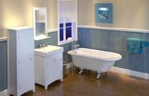 MAAX  Moment 5830 White Acrylic Clawfoot Tub Chrome Feet