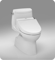Toto Carlyle II 1G Connect + C200 Washlet One Piece Toilet 1.0 GPF in Cotton Whtite