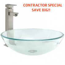 Royal Pexan Over Mount Glass Sink Bowl *BUILDER SPECIAL*