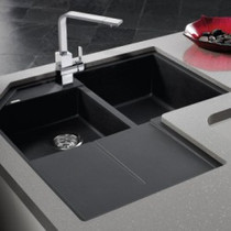 BLANCO METRA SILGRANIT® double bowl corner sink