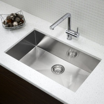"BLANCO QUATRUS U Maxi Stainless Steel Undermount Bar Sink 33"""