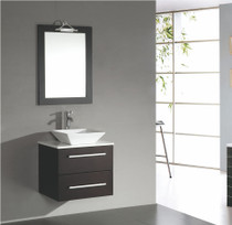 "Weston 24"" Espresso Wall Mount Bathroom Vanity"