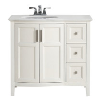 "Destiny 36"" White Bathroom Vanity"