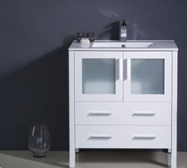 "Bello 30"" White Bathroom Vanity"