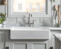 Kohler Apron Whitehaven Self-Trimming Smart Divide Kitchen Sink