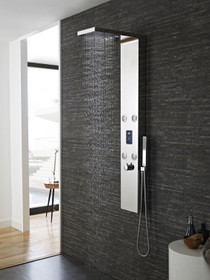 Rafael Thermostatic Shower Panel in Chrome
