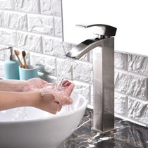 Royal Fall Tall Single Handle Faucet Brushed Nickel