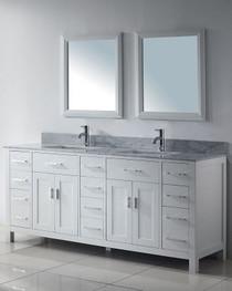 Royal Alexandria 72 inch White Bathroom Vanity- In Stock