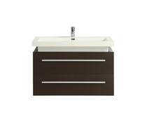 "Rubi Artic 36"" Espresso Wall Mount Bathroom Vanity"