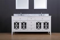 Royal Casa  72 inch White Double Sink Bathroom Vanity