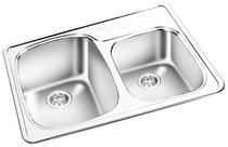 Gemini Top Mount Double sink  RNT 1615