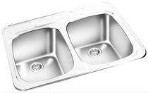 GEMINI Double Bowl Top Mount Kitchen Sink T 02