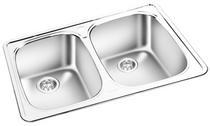 GEMINI Double Bowl Top Mount Kitchen Sink  T 05