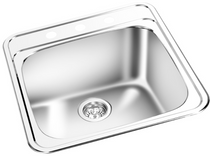 GEMINI Single Bowl Top Mount Kitchen Sink T 01