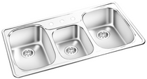 GEMINI Triple Bowl Top Mount Kitchen Sink  RNT 211521