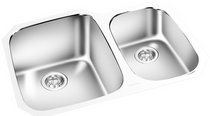 GEMINI -Under Mount Double Bowl Kitchen Sink  KM 1615