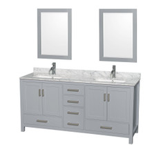 "Key West 60"" Gray Double Sink Bathroom Vanity"