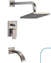 RBP Dade Wall Mounted Rain Shower and Tub Filler Brushed Nickel