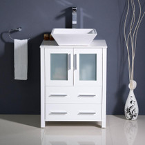 "Venice 28"" White Bathroom Vanity"