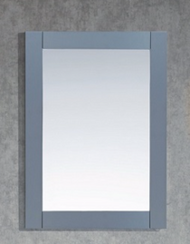 "Grey  30"" Wooden Framed Mirror"