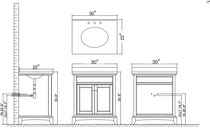 "Boca 30"" White Bathroom Vanity"
