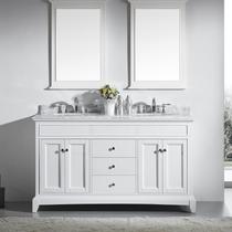 """Boca 72"""" White Double Sink Bathroom Vanity"""